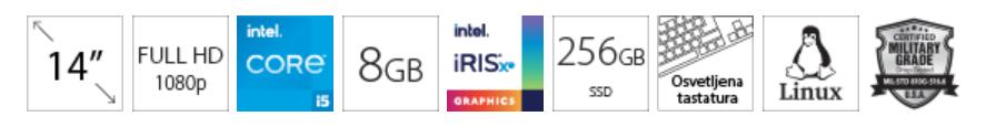 DELL Vostro 5402 14 FHD i5-1135G7 8GB 256GB SSD Intel Iris Xe Backlit sivi