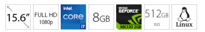 DELL Vostro 3500 15.6 FHD i7-1165G7 8GB 512GB SSD GeForce MX330 2GB