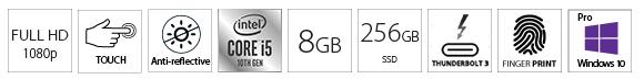 DELL Latitude 7210 2-u-1 12.3 FHD Touch i5-10210U 8GB 256GB SSD FP Win10Pro 3yr NBD + Active Pen