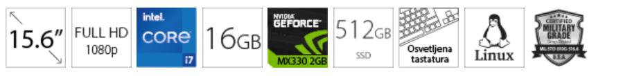 DELL Vostro 5502 15.6 FHD i7-1165G7 16GB 512GB SSD GeForce MX330 2GB
