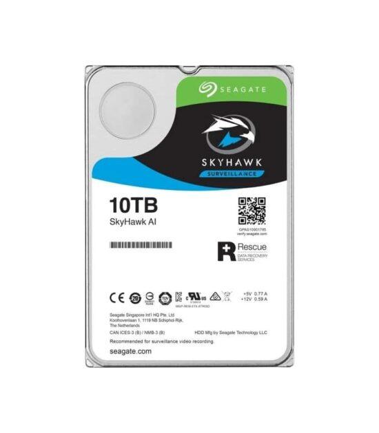 SEAGATE 10TB 3.5 SATA III 256MB ST10000VE0008 SkyHawk Surveillance HDD