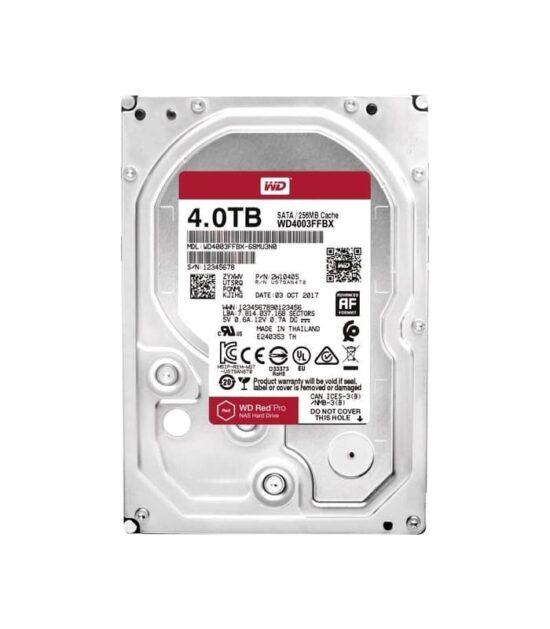 WD 4TB 3.5 SATA III 256MB 7.200 WD4003FFBX Red Pro