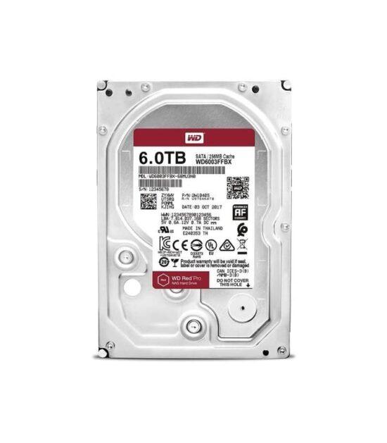 WD 6TB 3.5 SATA III 256MB 7.200rpm WD6003FFBX Red Pro