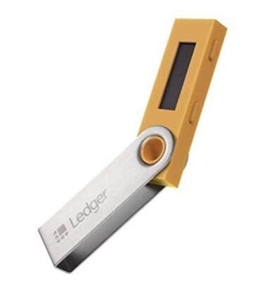 Ledger Nano S wallet Žuti kripto novčanik